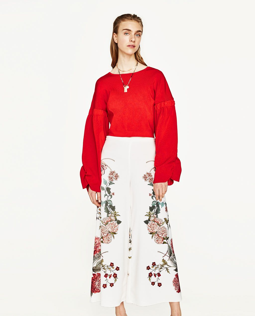 Image 1 Of From Zara Zara Fashion Style Red Outfit