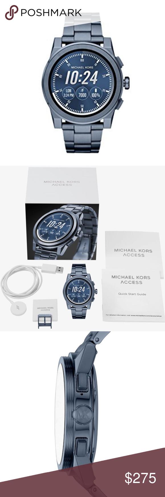 Michael Kors Men Navy Blue Smartwatch MKT5028 MKT5028