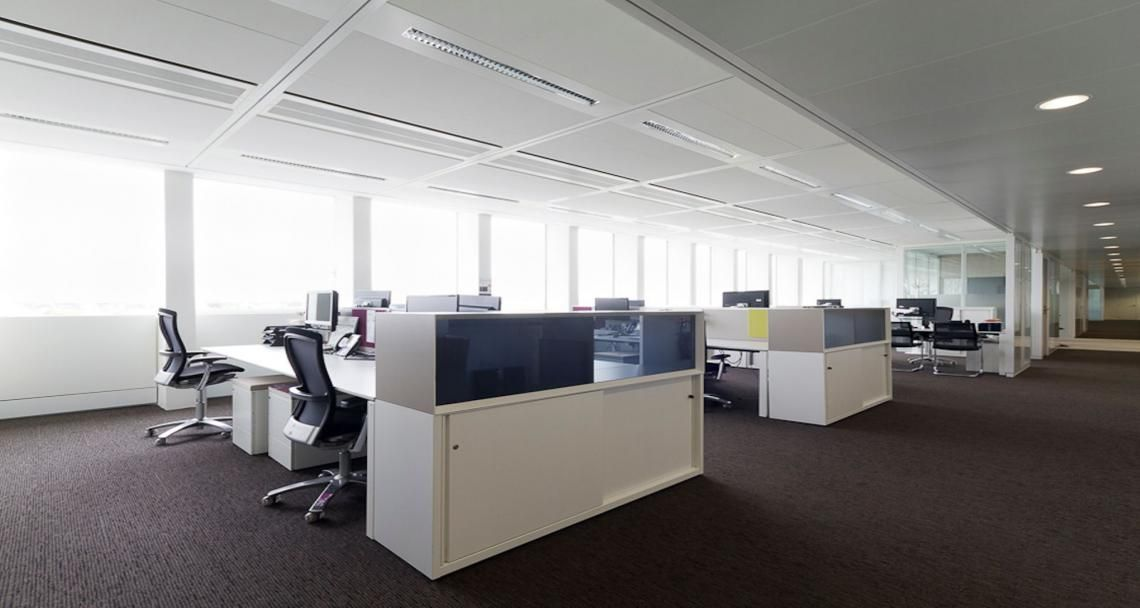 Open space into the offices of sony in paris france technology