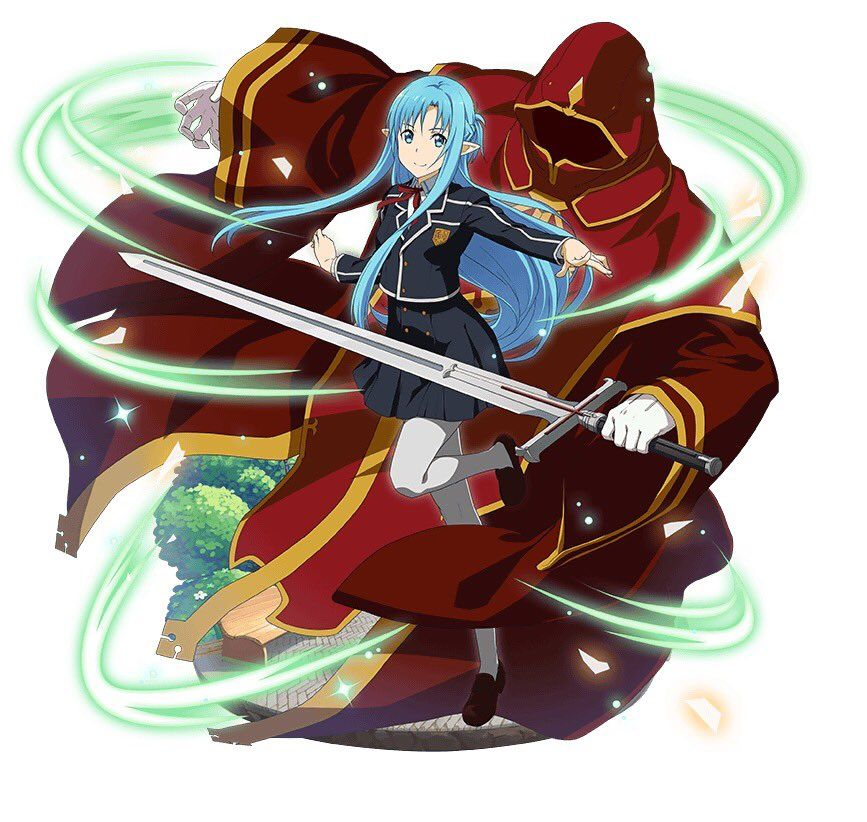 Wtf??? Asuna   and i think its Heathcliff in that mage robe