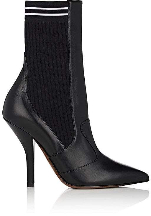 Womens Rockoko Leather Ankle Boots Fendi F162iT