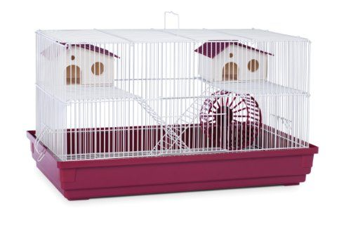 Prevue Hendryx Sp2060r Deluxe Hamster And Gerbil Cage Bordeaux Red Gerbil Cages Small Animal Cage Pet Cage