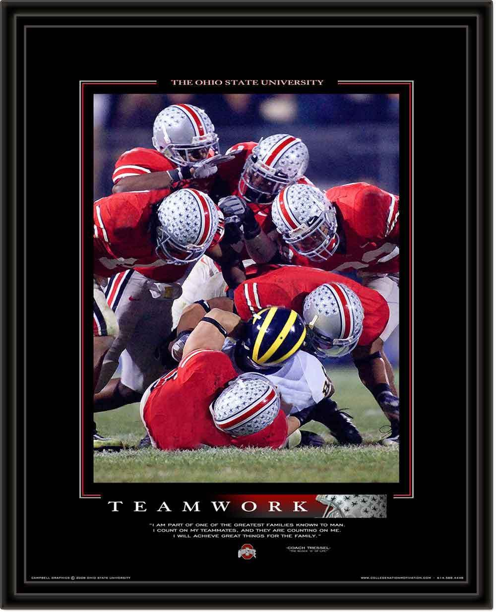 Ohio State Framed Teamwork Motivational Poster Ohio