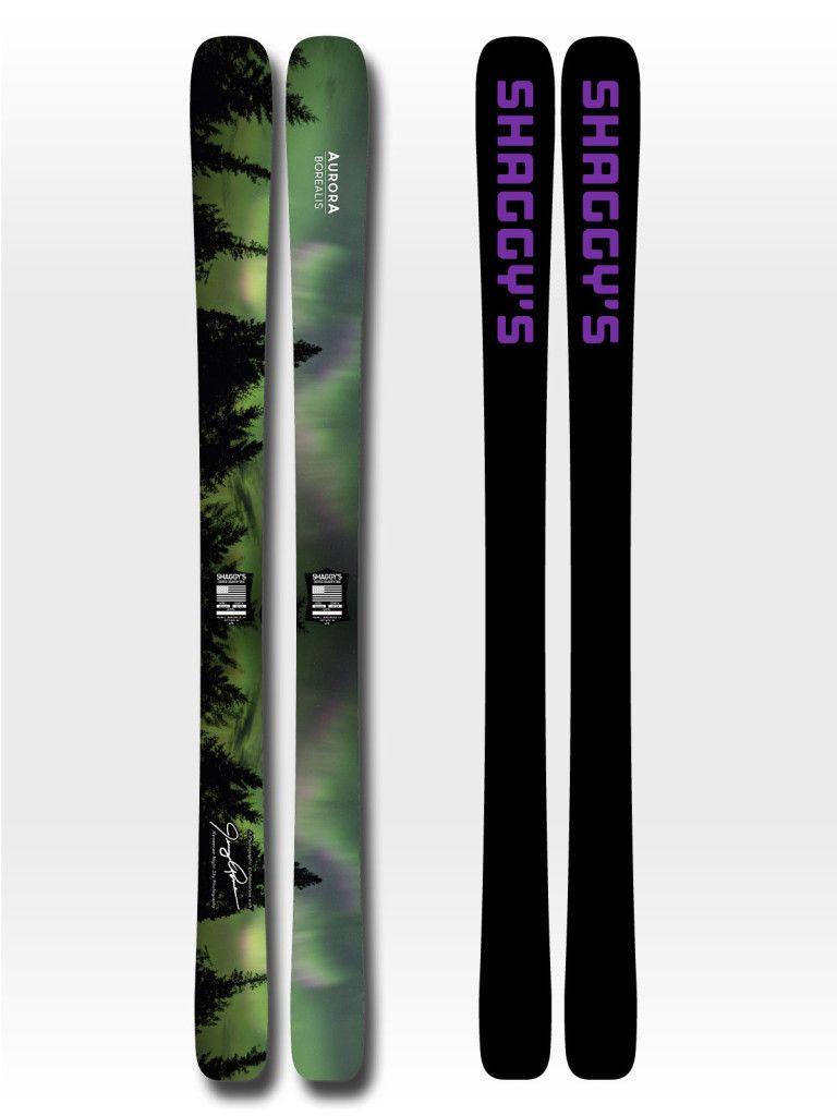 Aurora Borealis Limited Edition Northern Lights Skis Skiing Northern Lights Snow Skiing