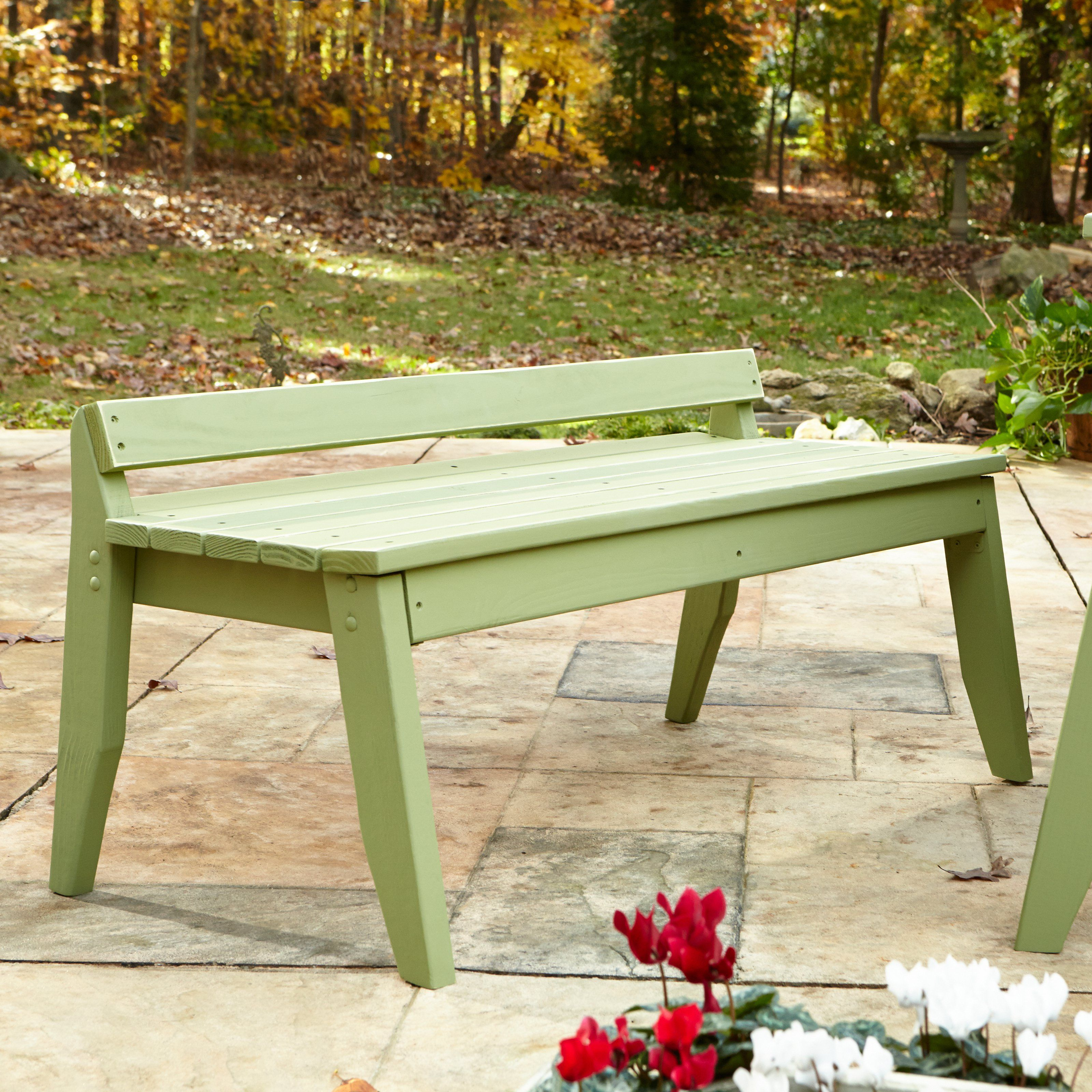 High Quality Outdoor Uwharrie Plaza Backless Patio Bench   P097 000