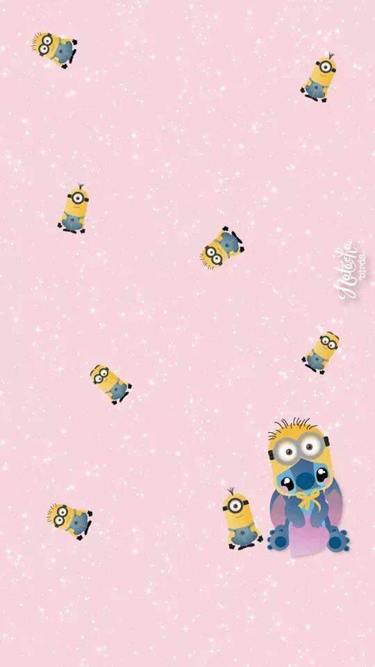 Cute Bob Minion Wallpapers Stitch Amp Minions Cartoon Minion Wallpaper Iphone