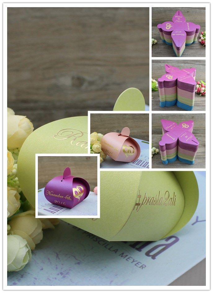 Colorful Cheap Wedding Favor Candy Box And Package Gift Box For Baby