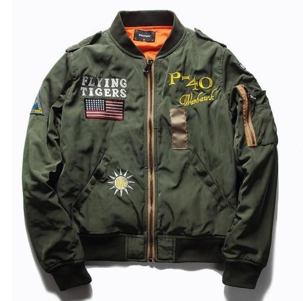 Military Flight Bomber Jacket Cargobayy | Ropa cool para