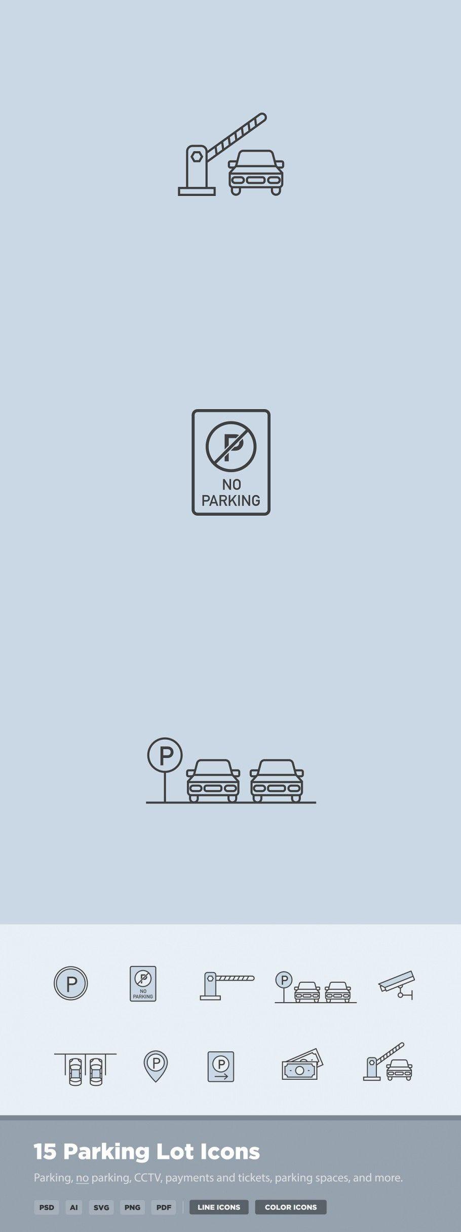 15 Parking Lot Icons Parking Design Icon Parking Lot