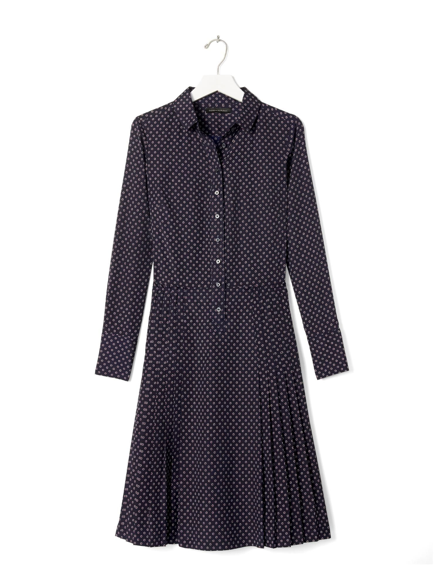 660958e2ffa Pleated Skirt Shirtdress