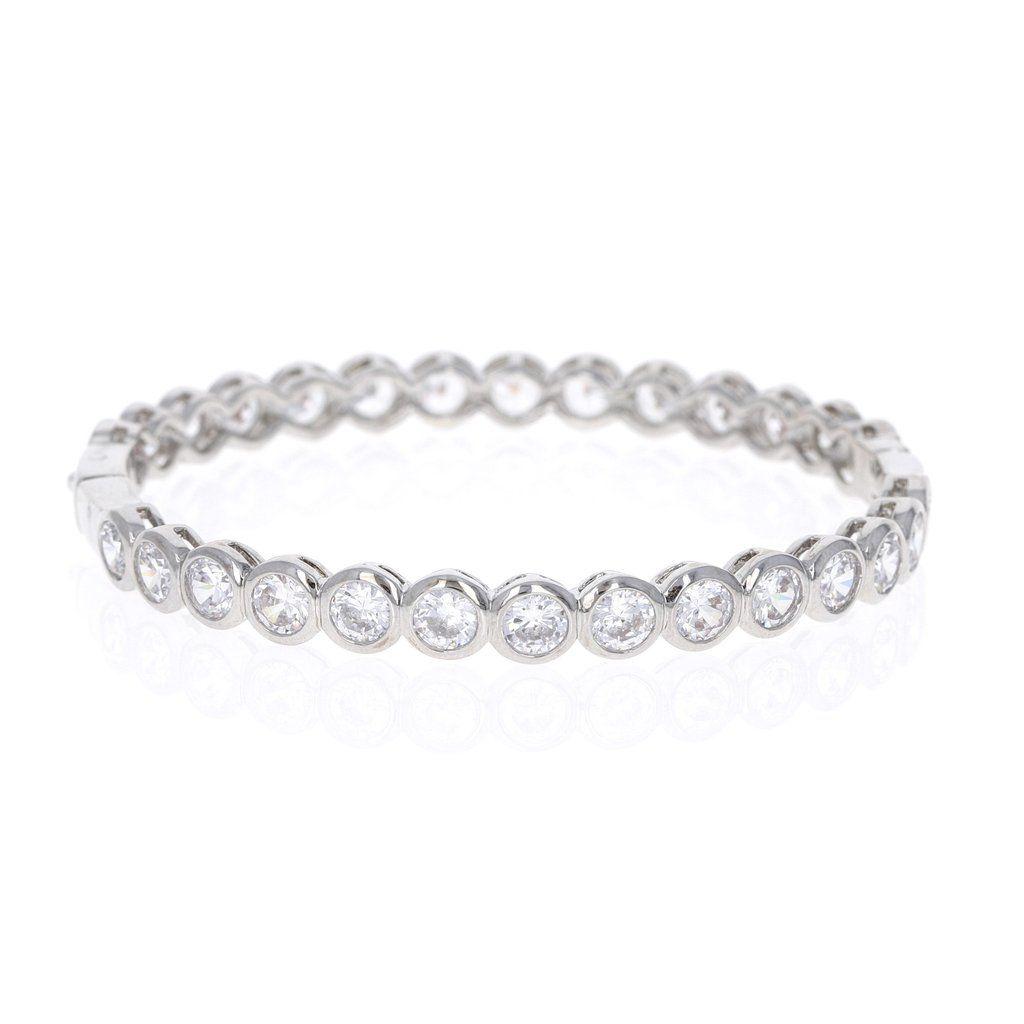 edf0b0483 Bezel Set Cubic Zirconia Stacking Bangle Bracelet – Alexandra Marks (Love  It. Want It. Need It) #shopamarks #bridalbracelet #weddingbracelet ...