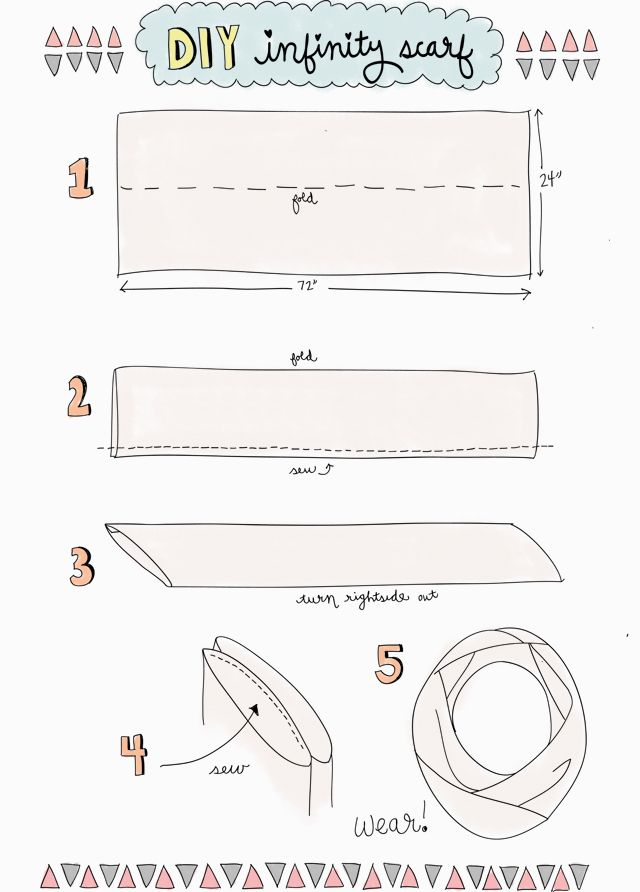 DIY infinity scarf | For the Home | Pinterest | Costura, Patrones y ...