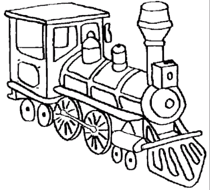 A Head Of A Very Old Train Coloring Pages