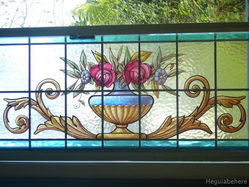 flores vitral flores en esmaltes y grisallas horneadas a gradosc nuevo vitral ornamental dise