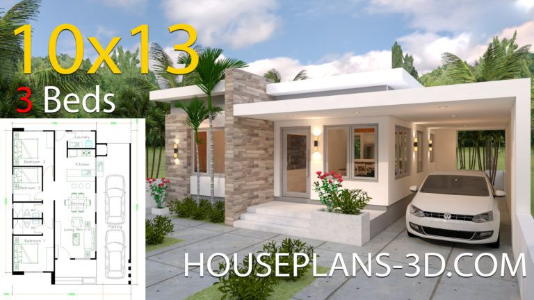 Interior House Design Plans 10x10 With 3 Bedrooms Full Plans House Plans 3d In 2020 House Plans Small House Design House Roof