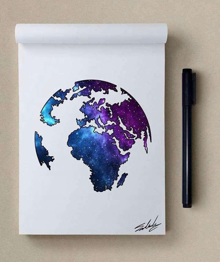 Erde Galaxie In 2020 Tumblr Bilder Zeichnen Galaxie Malerei Und