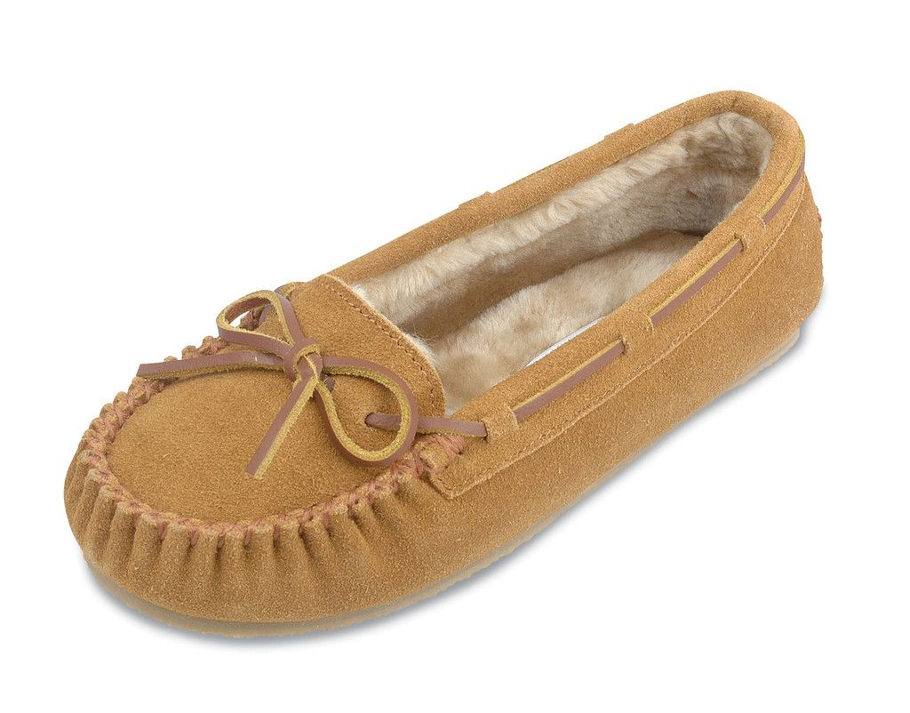 Minnetonka infant moccasins tan suede leather size 3 or 4