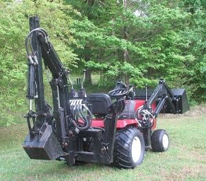 Sears Craftsman GT5000 garden tractor loader and backhoe1