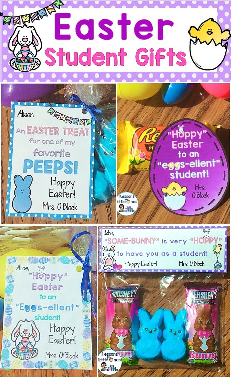 Easter student gifts gift tags easter students and gift ideas for personalized easter student gifts and cute gift tags the gift tags can be attached to any easter negle Image collections