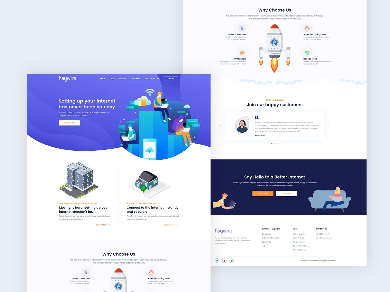 Website Of An Internet Provider In 2020 Internet Providers Web Design Internet