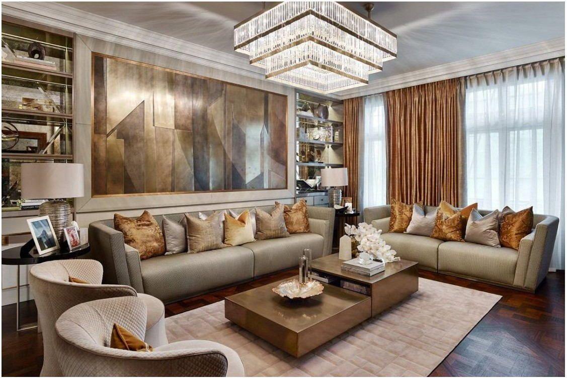 Contemporary Luxury Living Room Interior Luxury Living