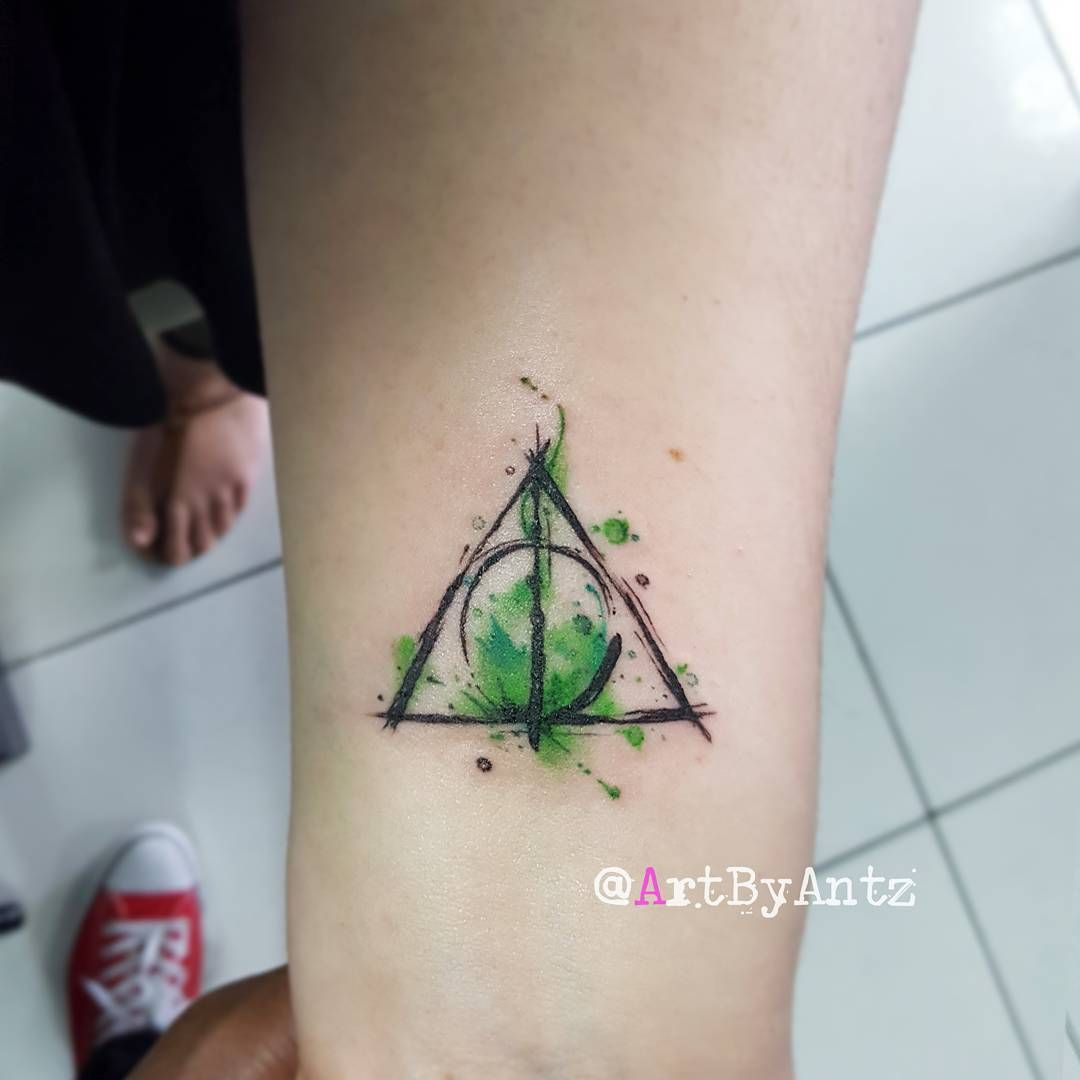 324 Likes 11 Comments Antz Le Aunce Artbyantz On Instagram A Watercolo Harry Potter Tattoo Small Harry Potter Tattoo Unique Tiny Harry Potter Tattoos