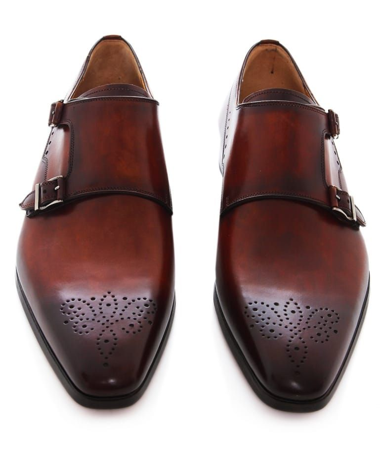 Magnanni Leather Double Monk Strap Shoes | Double monk strap