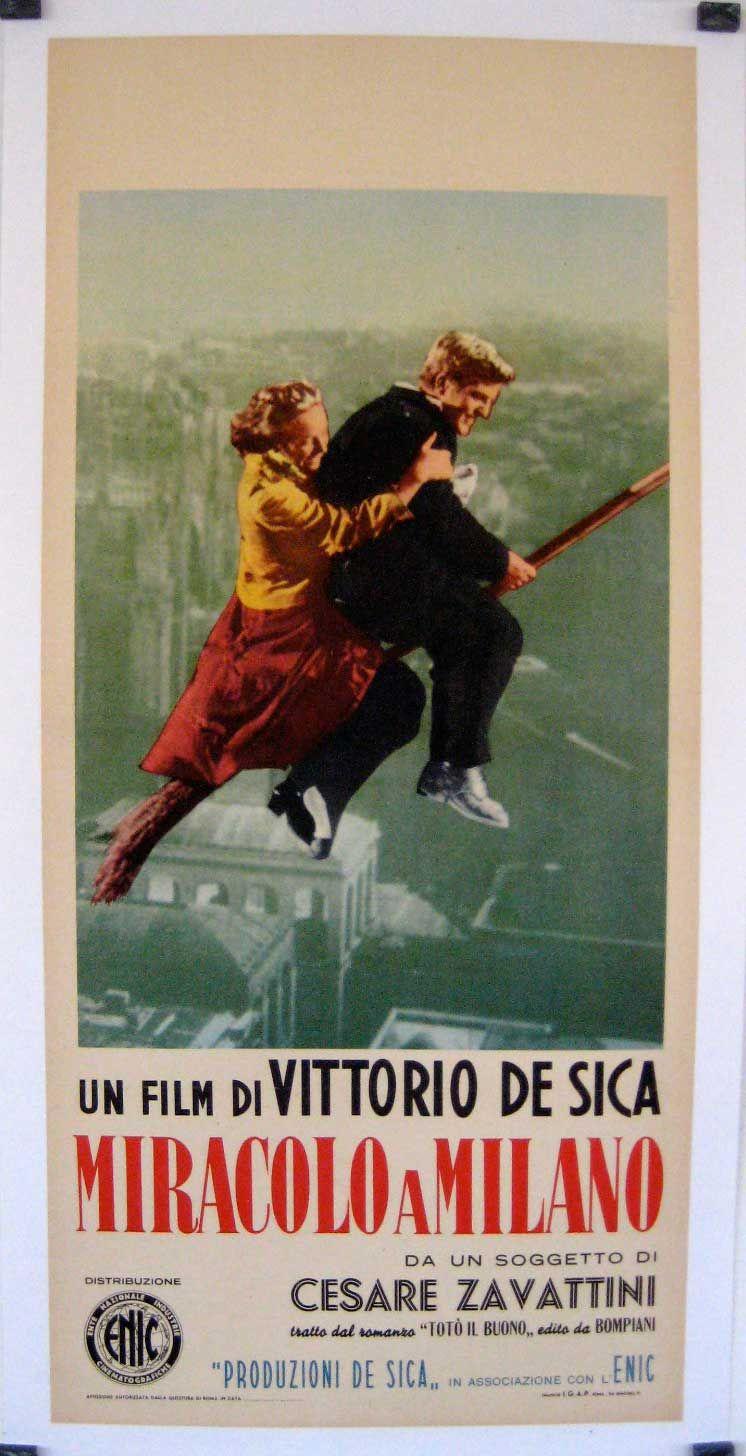 Miracolo A Milano Movie Poster Miracolo A Milano Movie Poster Carteles De Cine Cine Italiano Poster De Peliculas