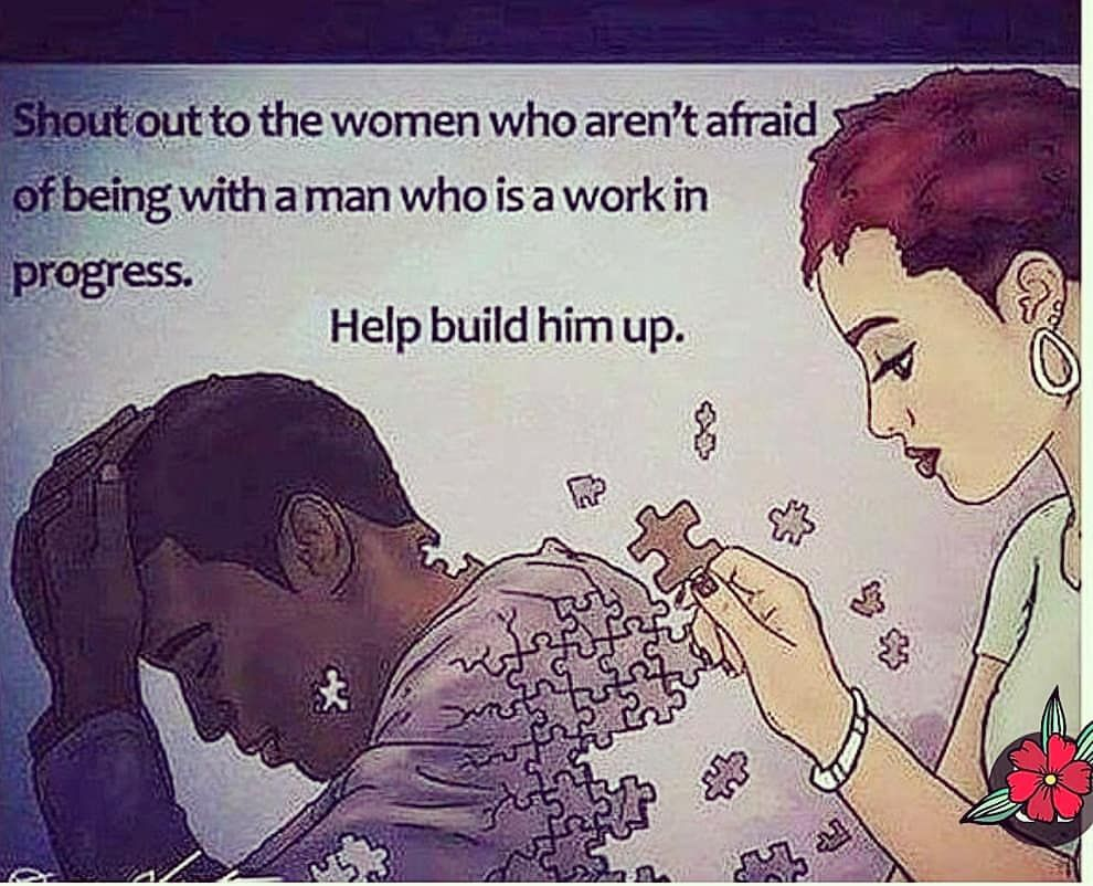 Encourage him, Build him up💪. As the Head of a Household Men carry alot.  Esteem your Man!🤴 Be…   Black love quotes, Relationship goals quotes,  Relationship quotes