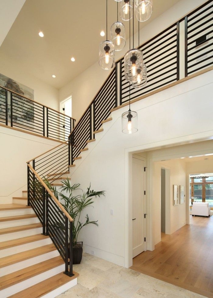 Basement Stair Ceiling Lighting: 30+ Beautiful Painted Staircase Ideas For Your Home Design