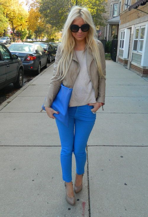 Blue and neutral. love this