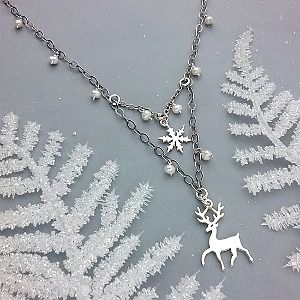 Make this winter wonderland necklace with jewelry supplies from www