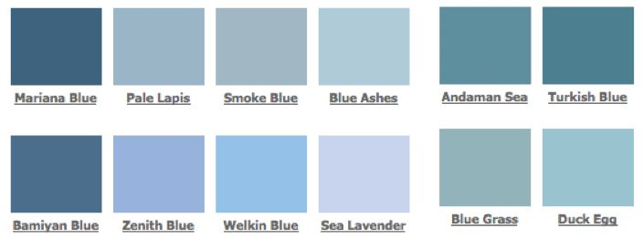 Google Image Result For Http Www Trendey Com Wp Content Uploads 2009 11 Firedearth Blues Jpg Blue Shades Colors Blue Paint Blue Colour Palette