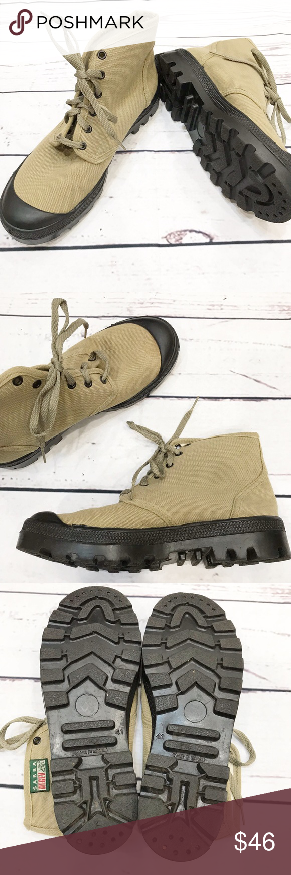 Sabra Negev Military Combat Canvas Boots 41 10 These Unisex Canvas