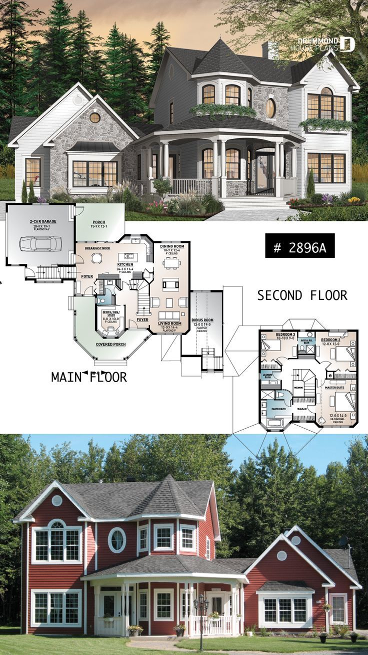 Victorian inspired house plan, 3 to 4 bedroom, ens... - #Bedroom #ens #hgtv #House #inspired #plan #Victorian #victorian
