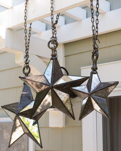 LED Antiqued Hanging Star | Balsam Hill