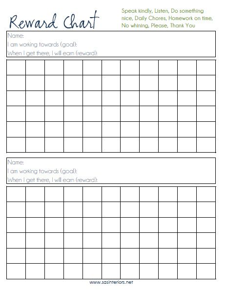 Reward Chart created by @Jenna_Burger, wwwsasinteriorsnet Best - blank reward chart template