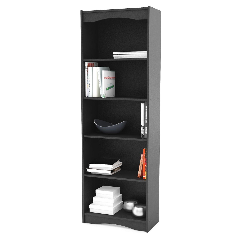 black bookcase bookcases furniture small carson shelf threshold walmart depot home from