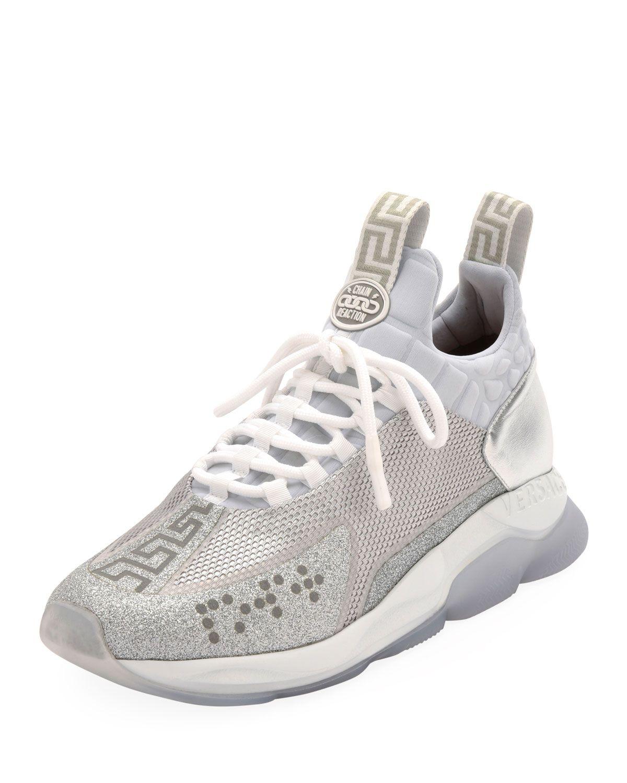 ab2a7f5c VERSACE MEN'S NEOPRENE CROSS CHAINER SNEAKERS. #versace #shoes ...