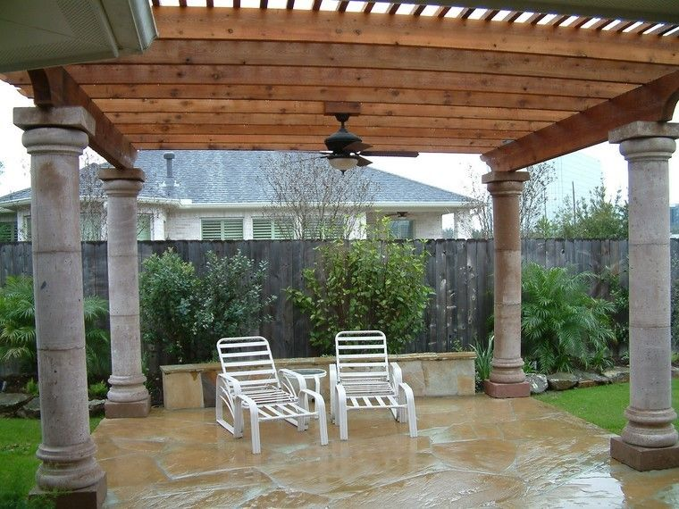 Pérgolas jardines terrazas con estilo muy modernas Porch - terrazas en madera