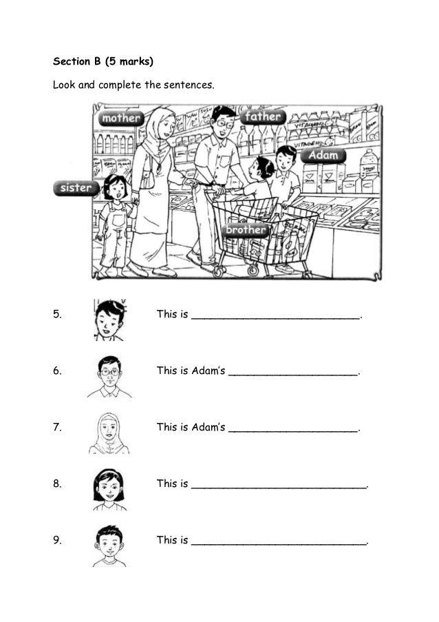 Baru Kertas Soalan Bi Tahun 1 English Exam Papers Primary Writing Exam Papers