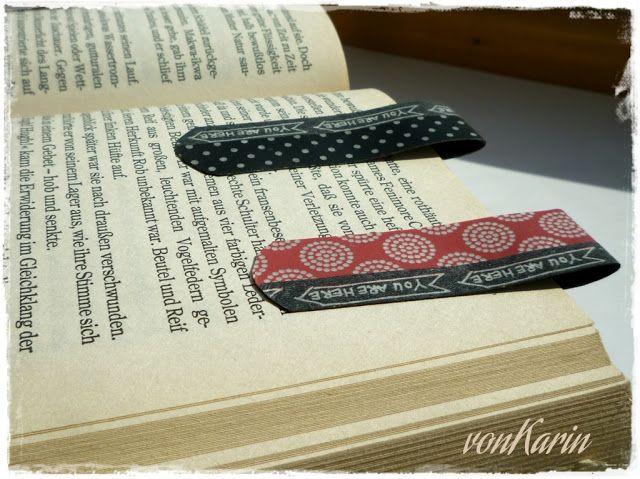 magnetische Buchzeichen mit Washi Tape (magnetic book ...
