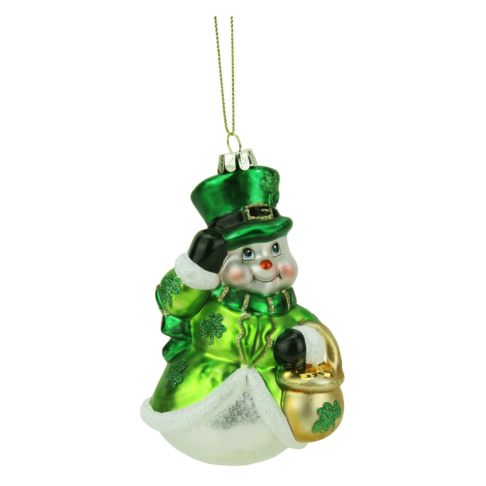 Northlight 4.25 in. Luck of the Irish Snowman Ornament
