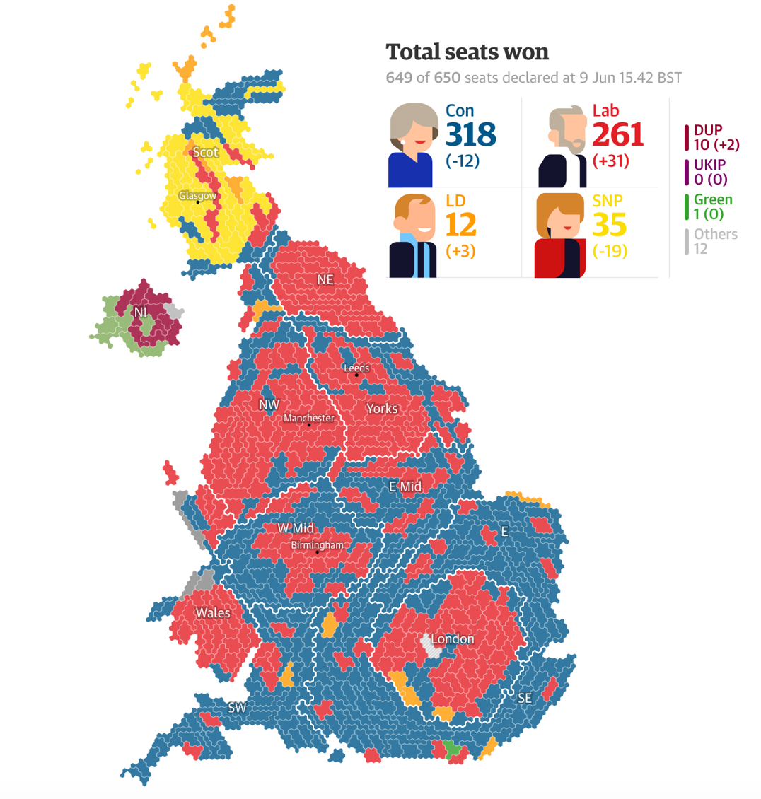 Map Of Uk Election Results 2017.Uk Elections 2017 Results Www Theguardian Com Politics Ng