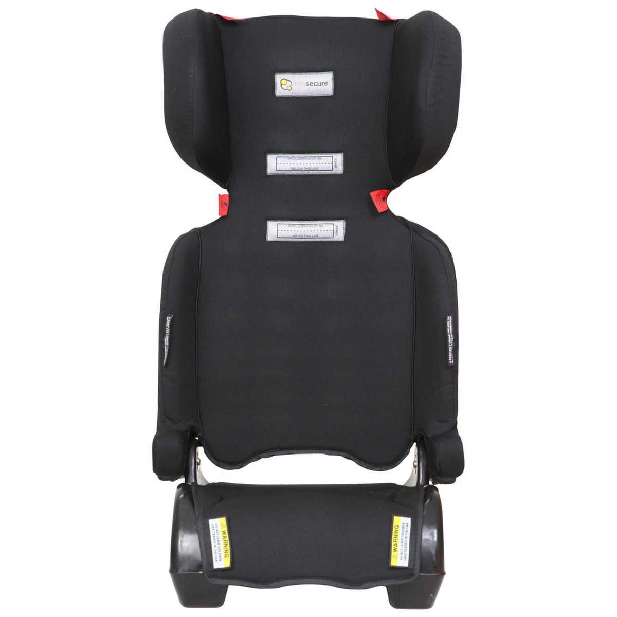 InfaSecure Traveller Folding Booster Seat - Black   BIG W ...