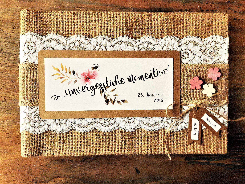 Gastebuch Hochzeit Album Fotoalbum Individualisiert