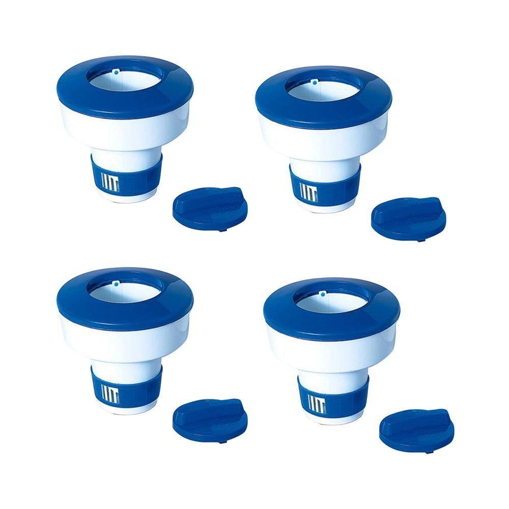 Swimline Pool Adjustable Floating Chlorine Dispenser 4 Pack Swimming Pool Chlorine Swimline Pool Chlorine