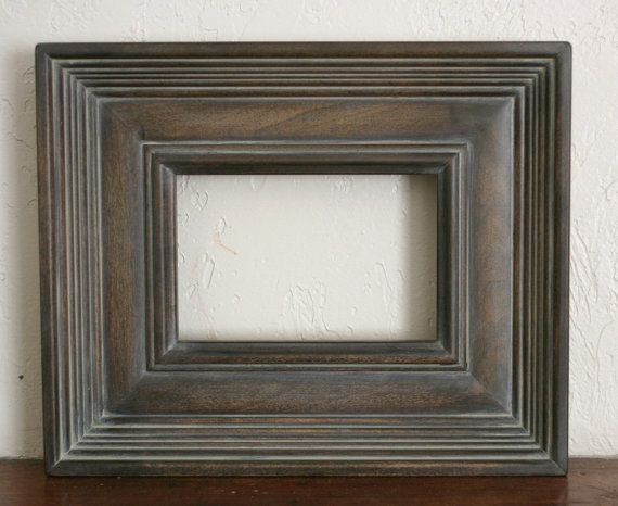 Sizes 12x16 to 16x20 Wood Picture Frame / Gray Washed Brown / Empire ...