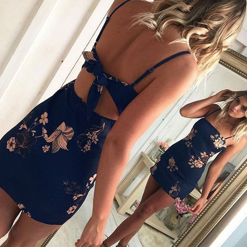 Tie Back Floral Body Con Dress Trendy Outfits