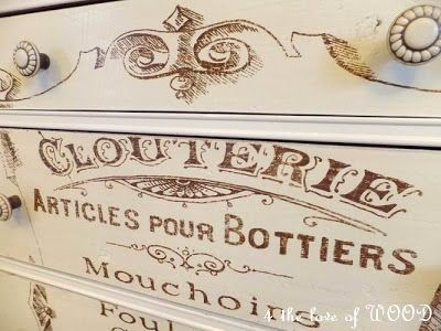 4 the love of wood: ARTICLES DE PARIS - french dressing chest